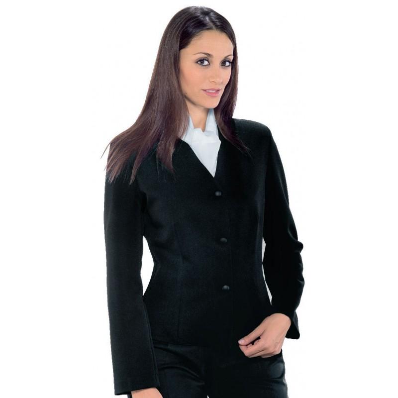 veste tailleur noire pour femme service et h tellerie lisavet. Black Bedroom Furniture Sets. Home Design Ideas