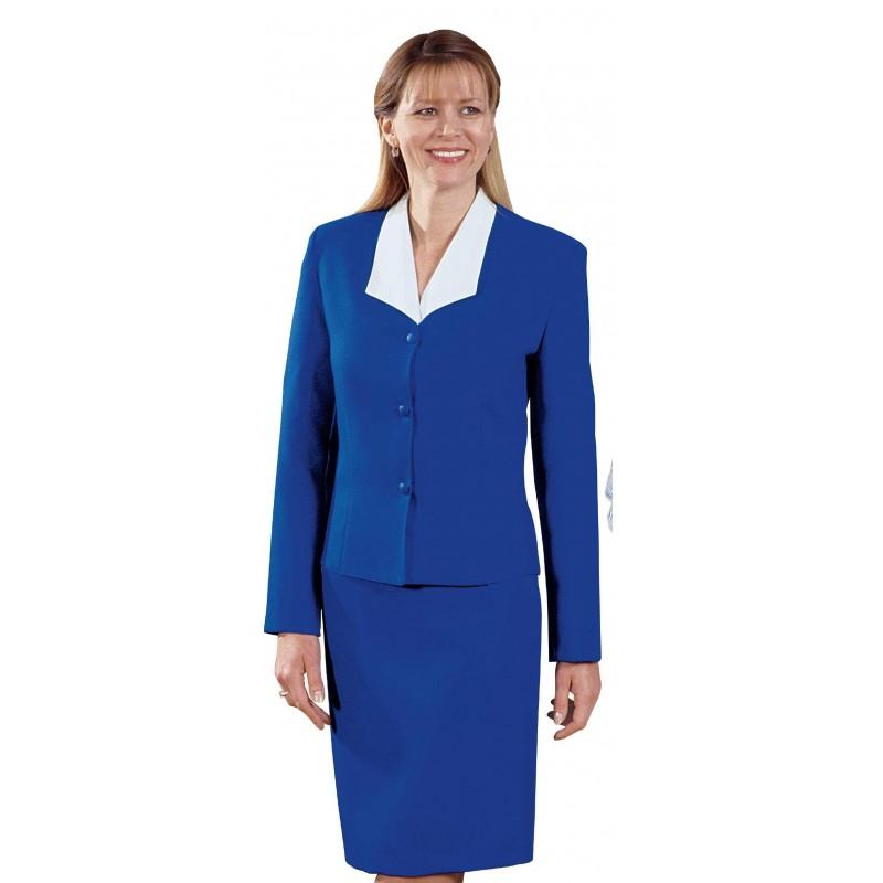 veste tailleur professionnelle bleu roi pour femme lisavet. Black Bedroom Furniture Sets. Home Design Ideas