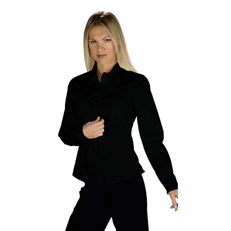 chemise h tellerie noire professionnelle pour femme lisavet. Black Bedroom Furniture Sets. Home Design Ideas