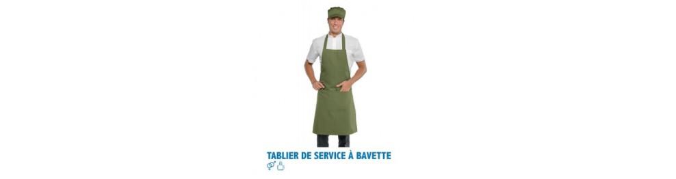Tablier de service - bavette