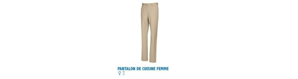 Pantalon de cuisine femme